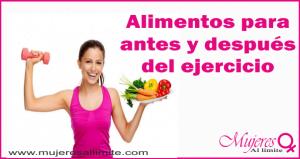 alimentos ejercicio