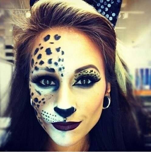 Make up leopardo