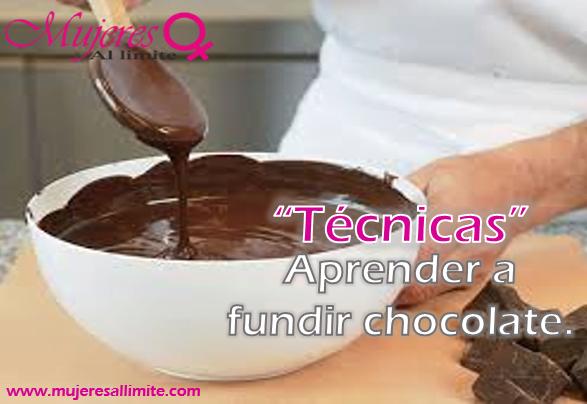 como derretir chocolate