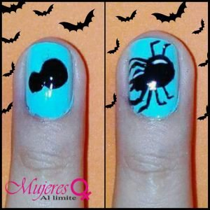 diseño uñas halloween