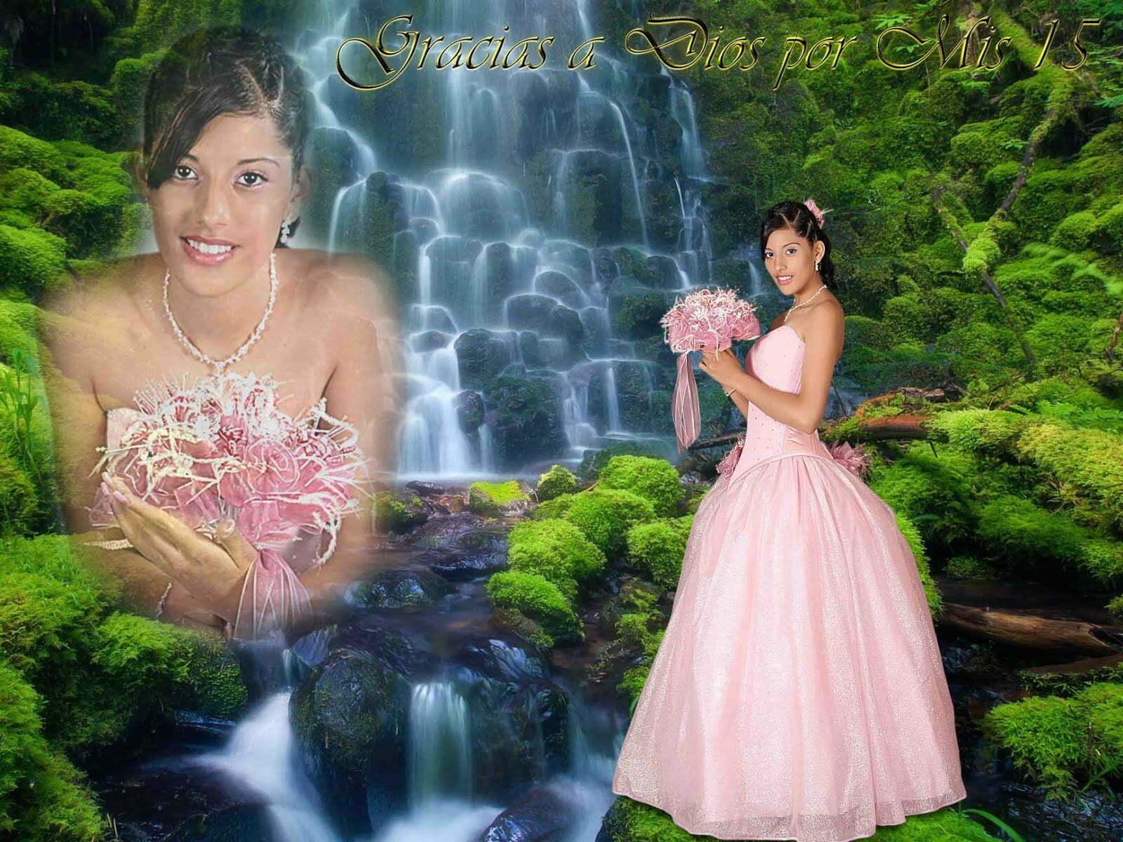 fotomontajes para fotos de quinceañeras